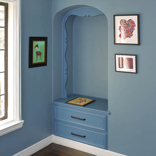 bedroom niche cabinet