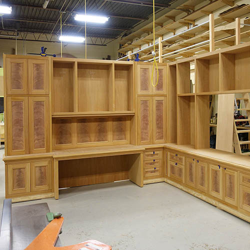 library cabinets  and wall panels