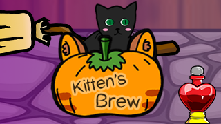 Kitten's Brew - Sable the black cat is a young, new familiar to her owner, a witch. The young witch makespotions all the time, but this time Sable wants to help. So the young witch allows Sable to help by pushing the right potions into to cauldron when she asks. But she only gives Sable three chances to make a mistake, so she has to be careful!Available on Android and Apple.