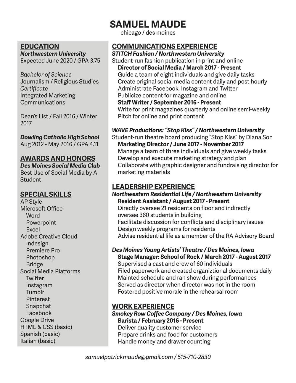 Fine Northwest Energy Resume Ensign - Administrative Officer Cover ...
