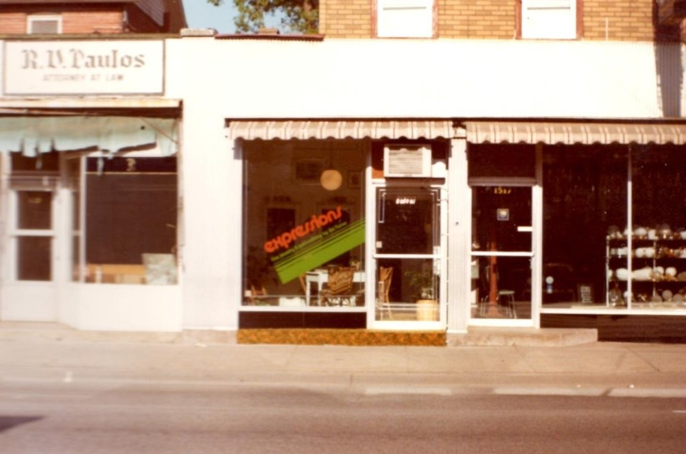 Expressions at its first location in 1977