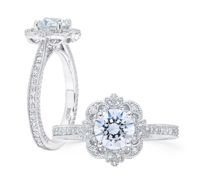 Vintage-Style Diamond Engagement Ring