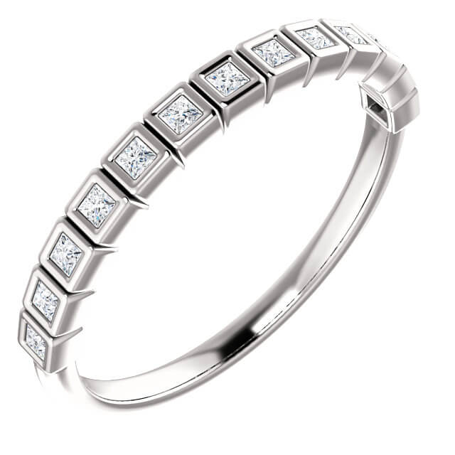 Princess Cut Bezel Set