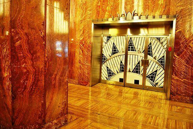 Elevators inside the Chrysler Building - Elisa.rolle (Own work) [CC BY-SA 4.0], via Wikimedia Commons