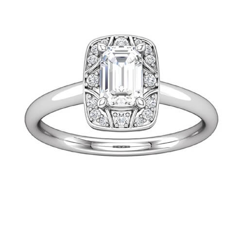 New Deco-inspired engagement ring from ever & ever