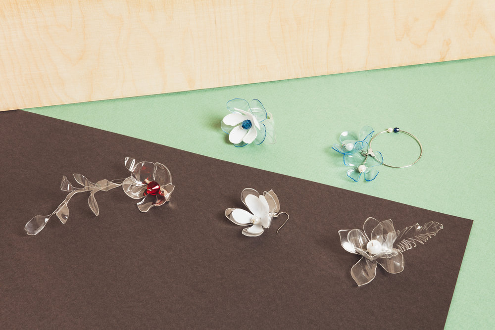 Jewelry made from plastic bottles