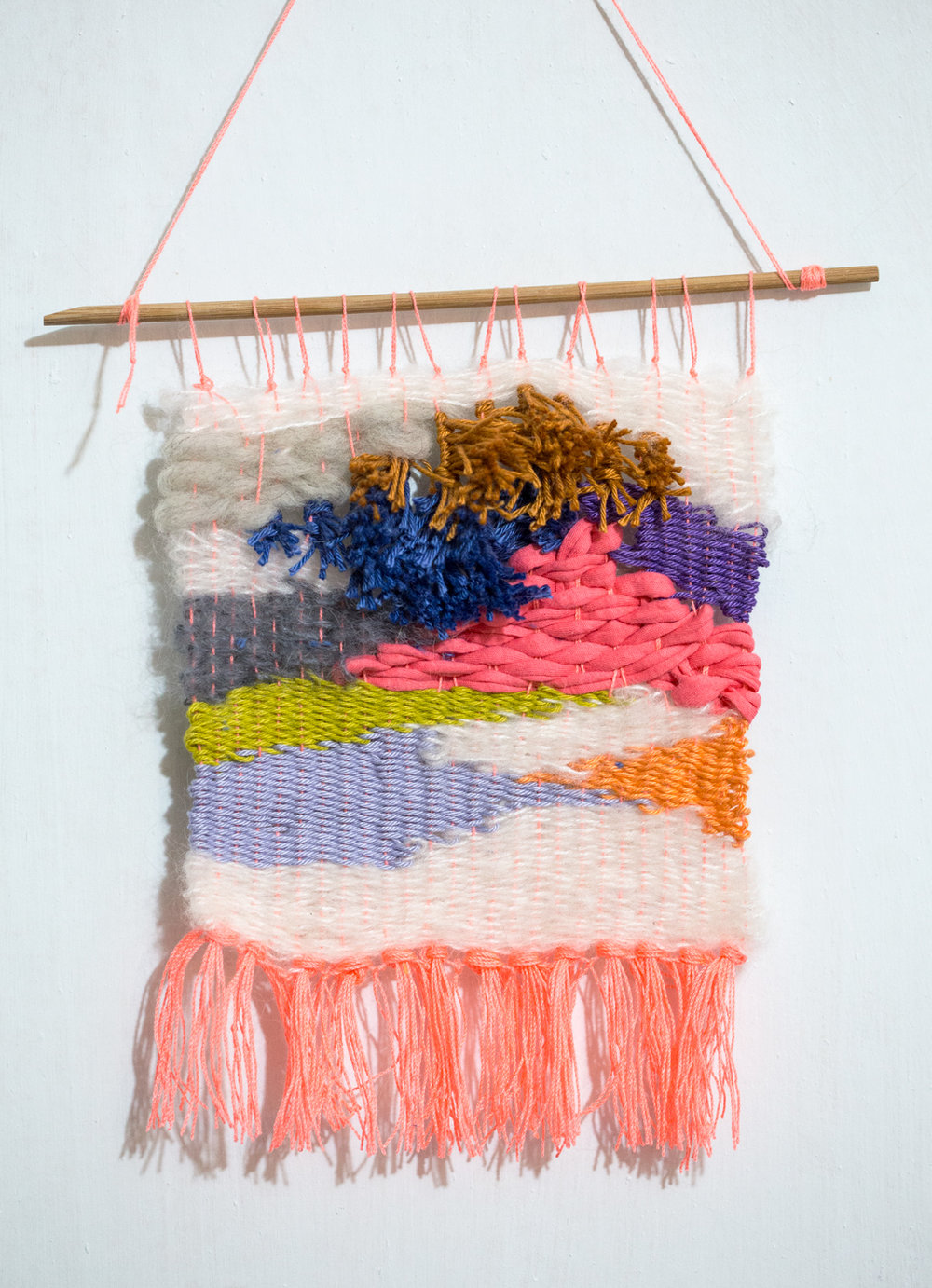 Weaving with recycled yarn