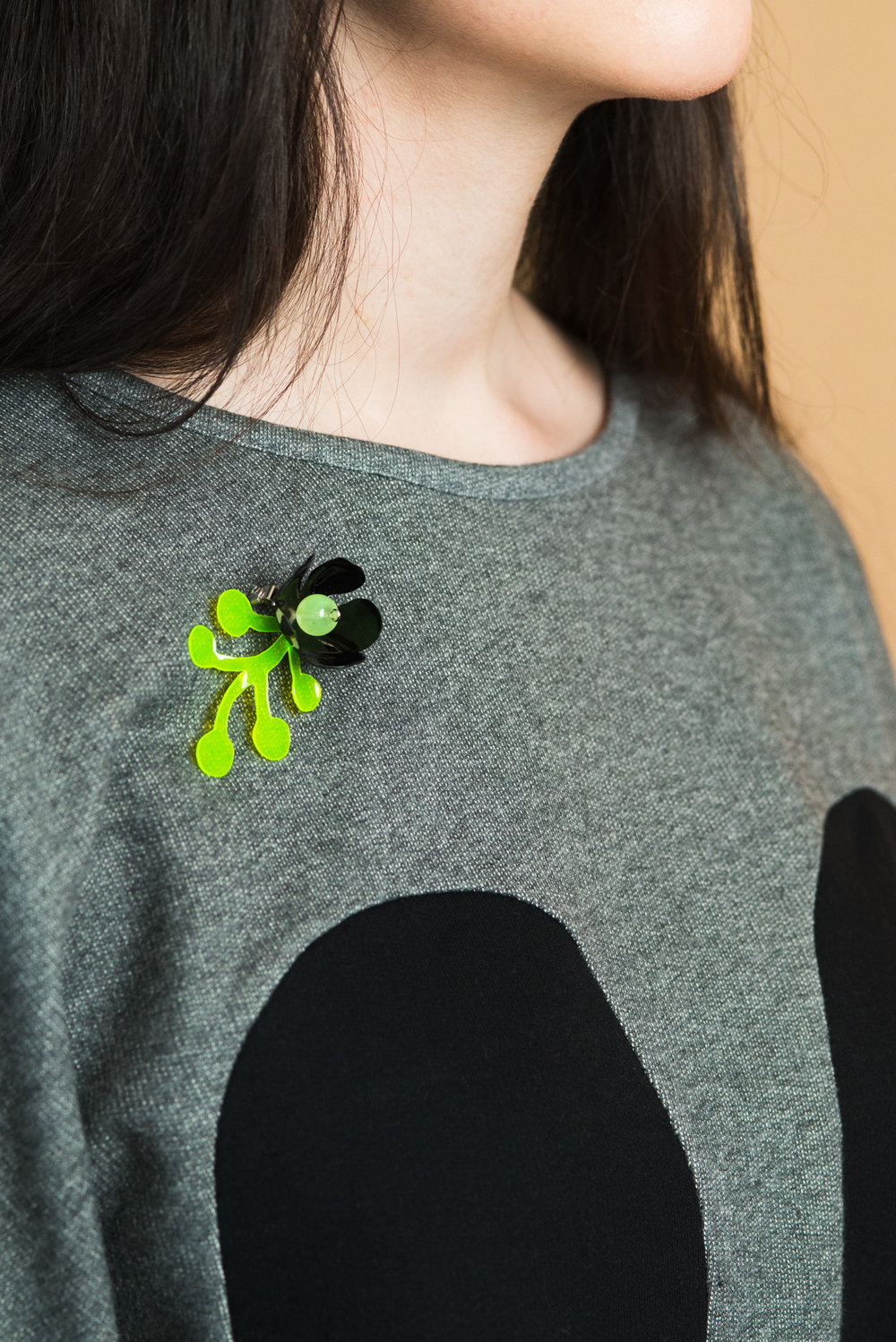 brooch made from plastic bottles