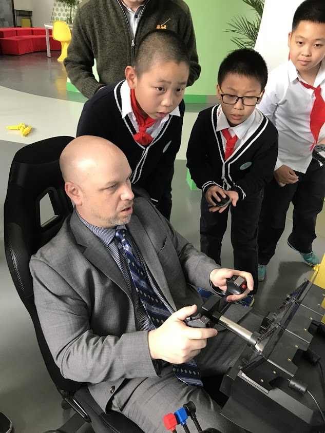 Teaching the children of Shenyang to drive like a New Yorker!