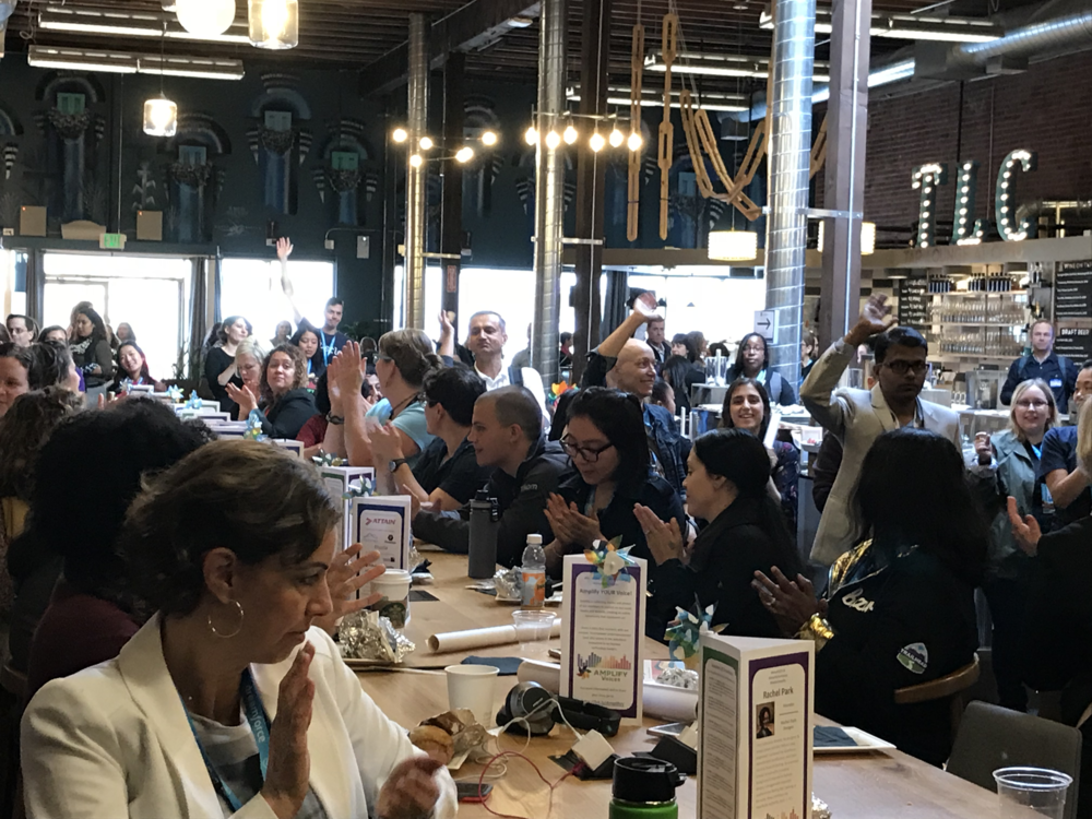 Attendees at the Dreamforce 2018 Amplify Breakfast