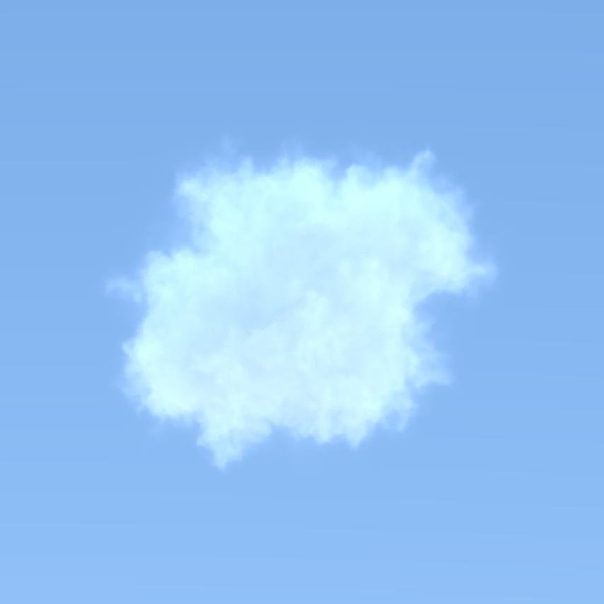 VDB cloud in the sky.