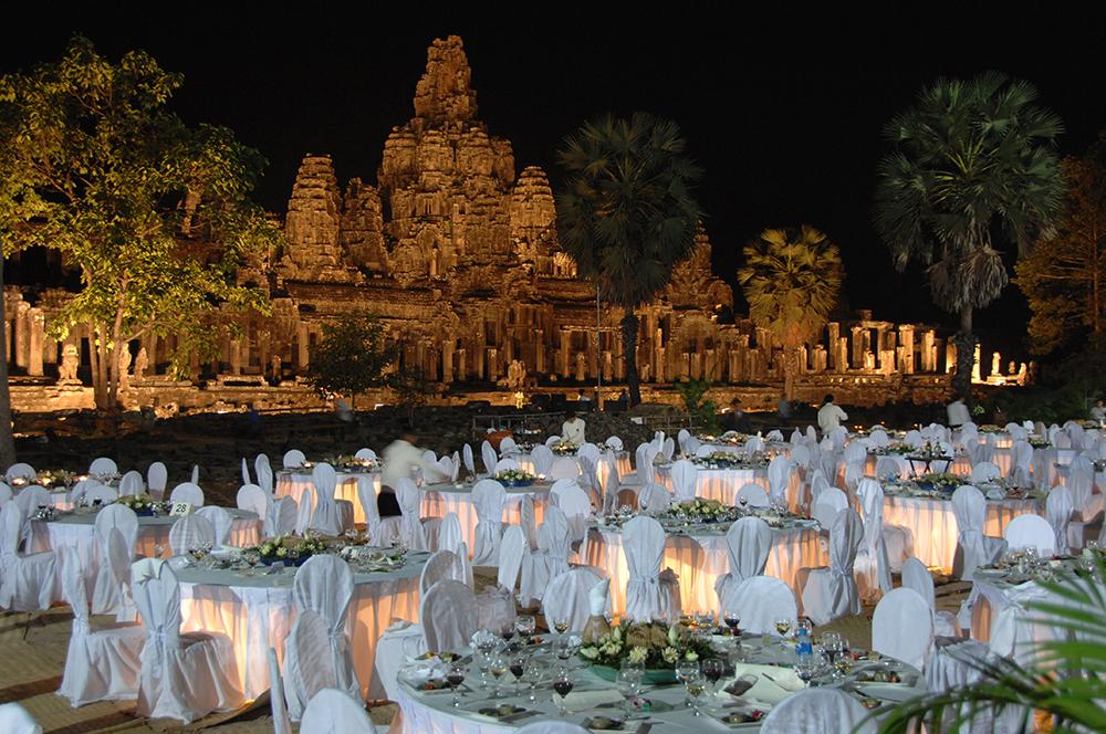 Temple dinner, Angkor Wat