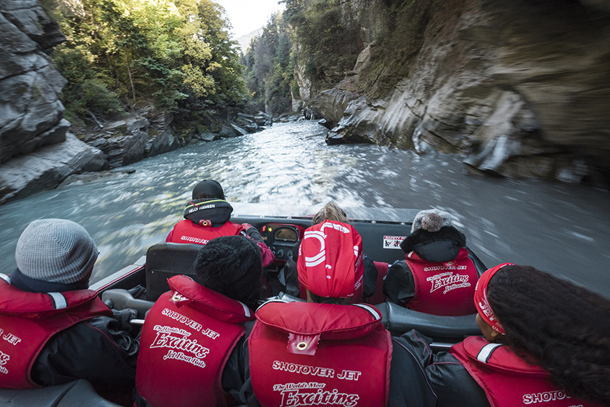 Queenstown attracts adrenalin junkies - top of their list: the Shotover.. -