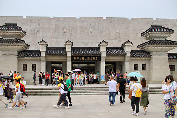The museum complex: school holidays swell the numbers of visitors, which is popular with Chinese and overseas tourists alike.