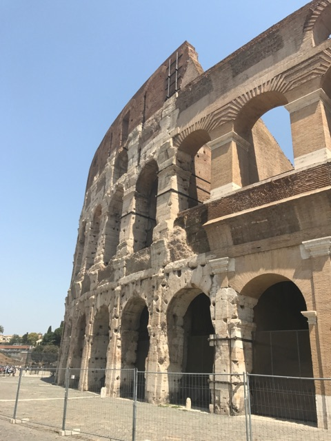 """In Kasey's words: """"The Colosseum, a structure so large and impressive that I found I difficult to believe it was built nearly 2,000 years ago. """""""