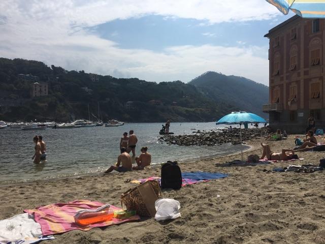 A view of the beach at Sestri Levante