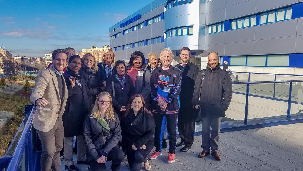 Pre-Health Advisers and Atlantis Staff in Spain, January 2018