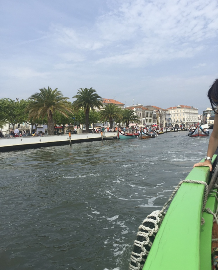 A view of one of Aveiro's main canals from a tour boat