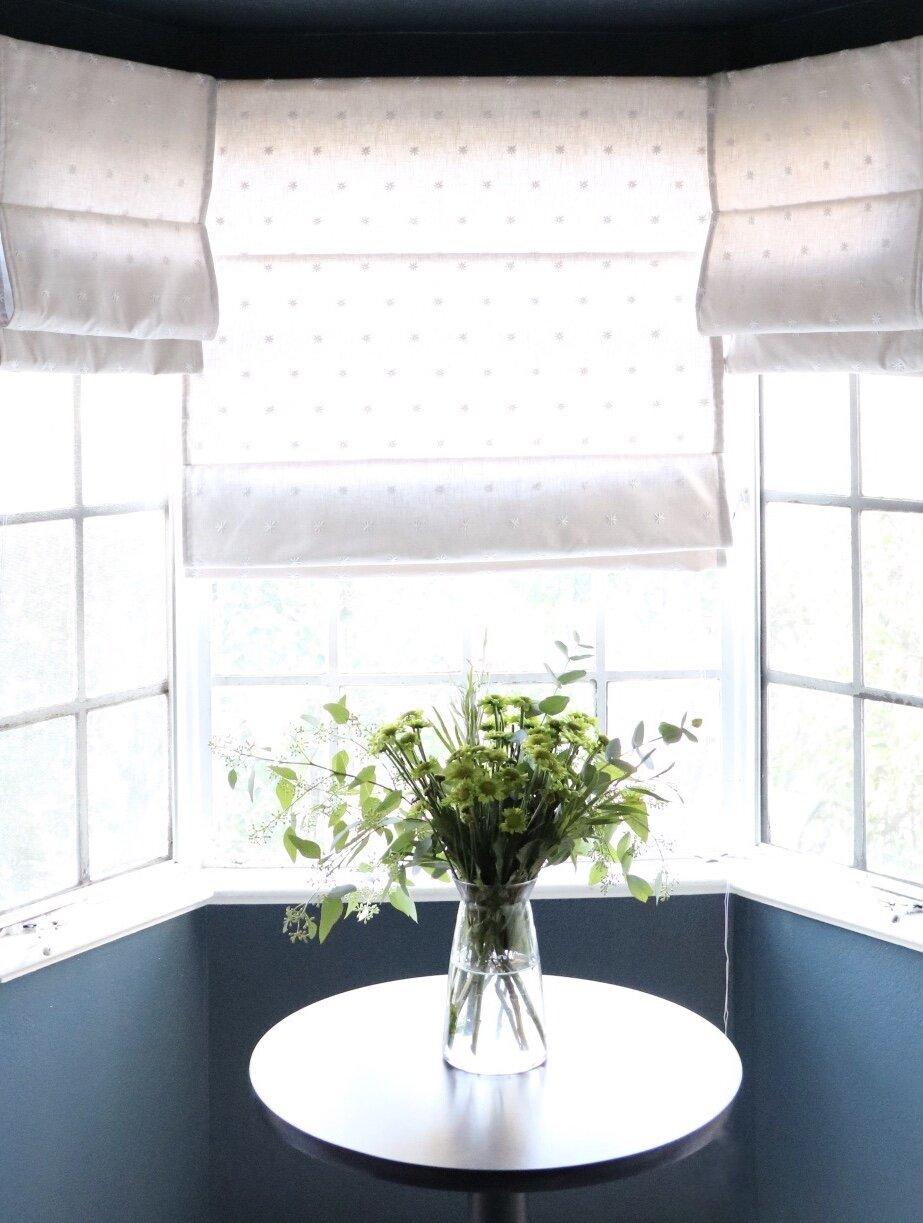 DIY Roman Shades for a Bay Window — DIY DARLING