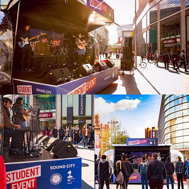 Thanks to all who braved the cold snap last week to support the @SoundCity bands at Liverpool One #airstreamstage #coldguitarfingers