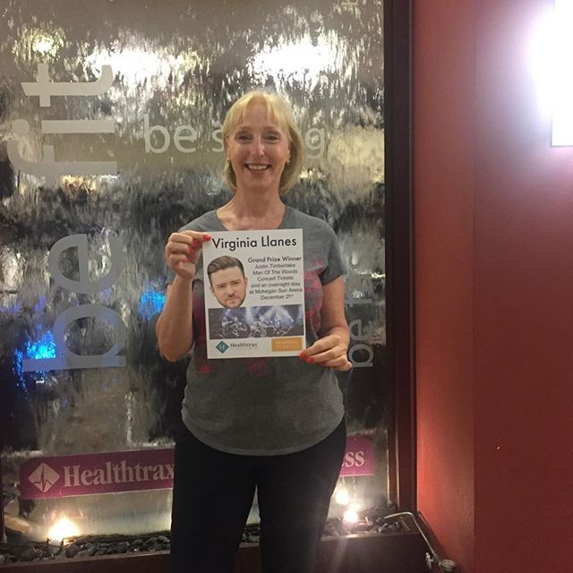 Congratulations🎵😍🎉✨🎆🎶🎧🎤 Grand Prize Winner of the Justin Timberlake Tickets and Overnight Stay at Mohegan Sun Member Referral Contest at Healthtrax! – Member: Virginia Llanes, Garden City Healthtrax Member Congrats Virginia! Say Hi to JT for us!  #justintimberlake #healthtrax #mohegansun #fitness #JT #memberreferral#rewards #congratulations