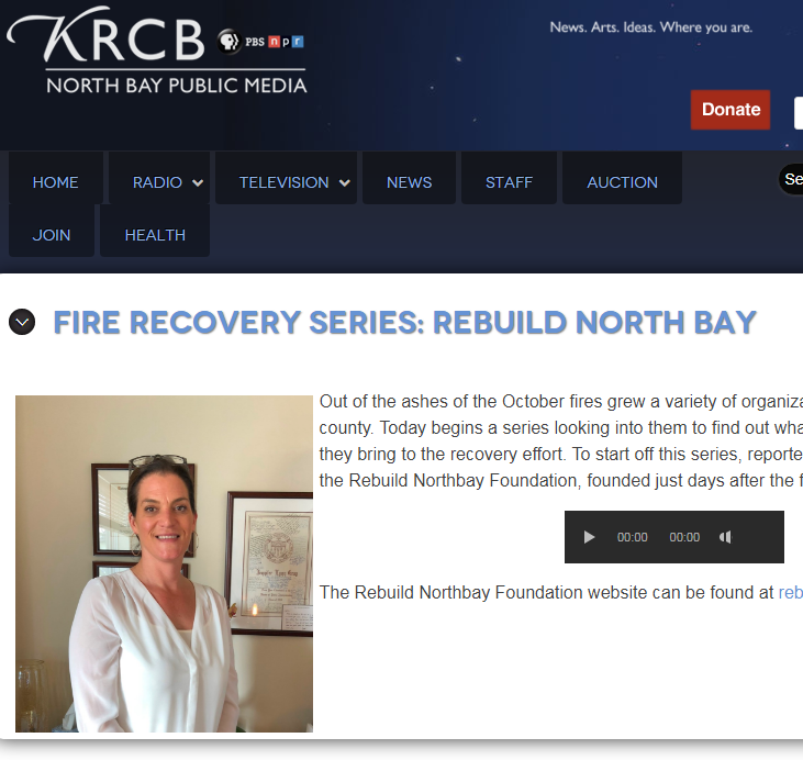APRIL 2018 | KRCB Fire Recovery Series