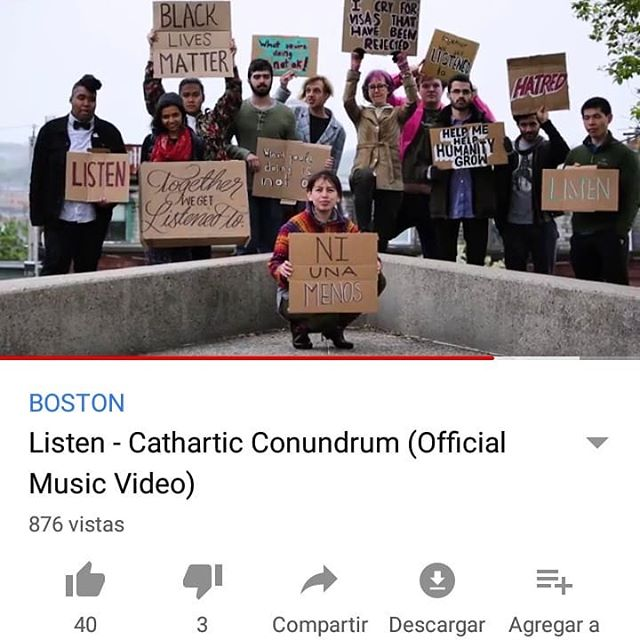 A month ago, we released our first music video made by @thecohenator. We brought together our loved friends, artists, organizers, and educators to make this project come to life. This song is protest, this song isa cry for peace, this song is togetherness. We are at 873 views. Will you help us get to 900? To 1K? I believe in y'all to help make this happen and to spread our message that values immigrants, PoC's, indigenous folks, homeless and all who have been systematically marginalized and underserved. This is especially important as voting season comes around in MA Sept 4! Share link in bio. . . . . .  #immigrantsmakeamericagreat #newmusic #bostoncreatives #musicvideo #localove #bostonlocal #spotify #digboston #acoustic #singersongwriter #protestsong #fuckdonaldtrump #immigrantsarewelcomehere #socialjustice #musicforjustice #blacklivesmatter #niunamenos #youtube #applemusic #votelocal #listen #practicelistening