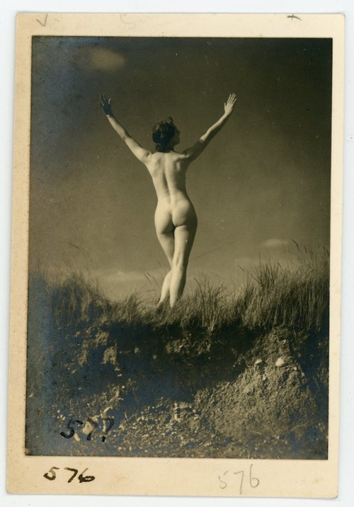 1930s NUDE WOMAN REAR VIEW BERTRAM PARK
