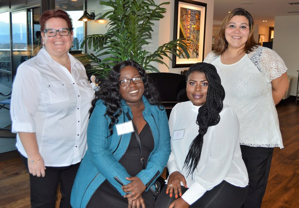 """Some of the WWAC Scholars enjoying our annual WE are Thankful """"Fun"""" Raiser in October 2018"""