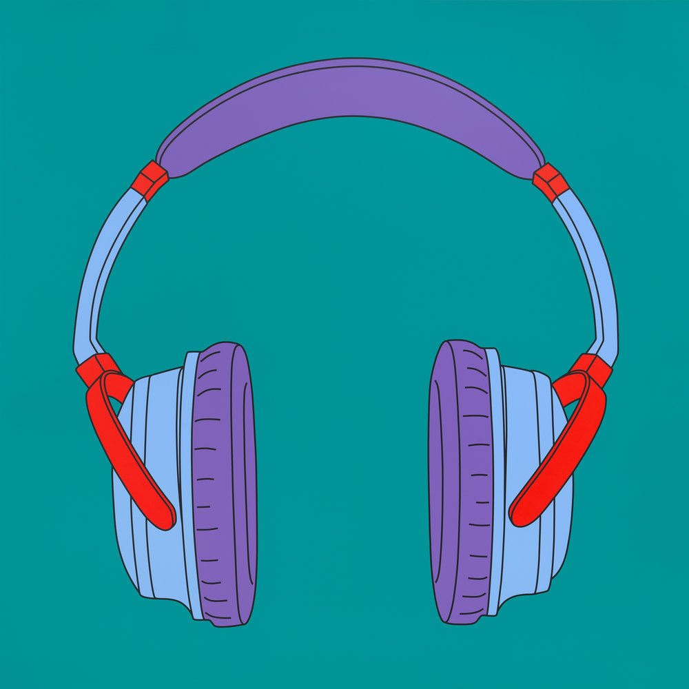 Michael Craig-Martin, Untitled (headphones), 2014.jpg
