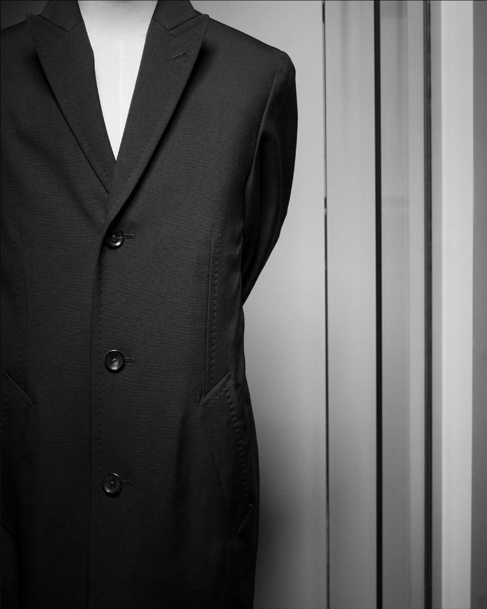 Overcoats - We offer a full range of overcoat and raincoat fabrics. Specializing in unstructured, soft makes with Italian milled wools and cottons. Styles cover both single breasted and double breasted all custom made for the individual. Pricing starts at $850 with all options included. Please allow 4-6 weeks for delivery.