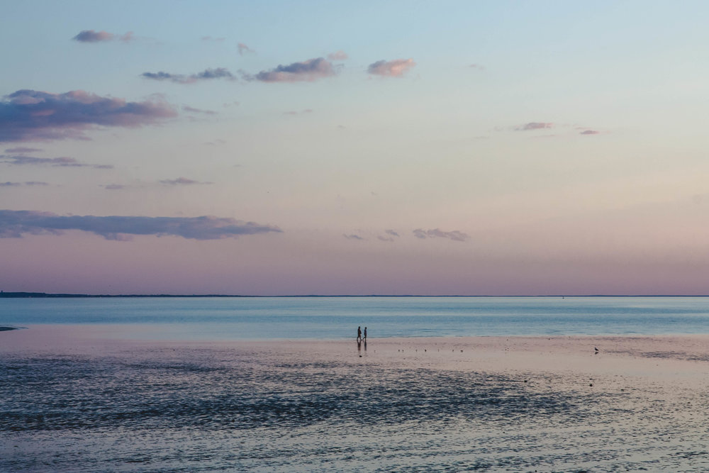 Walking On Water-Bayside On Cape Cod -