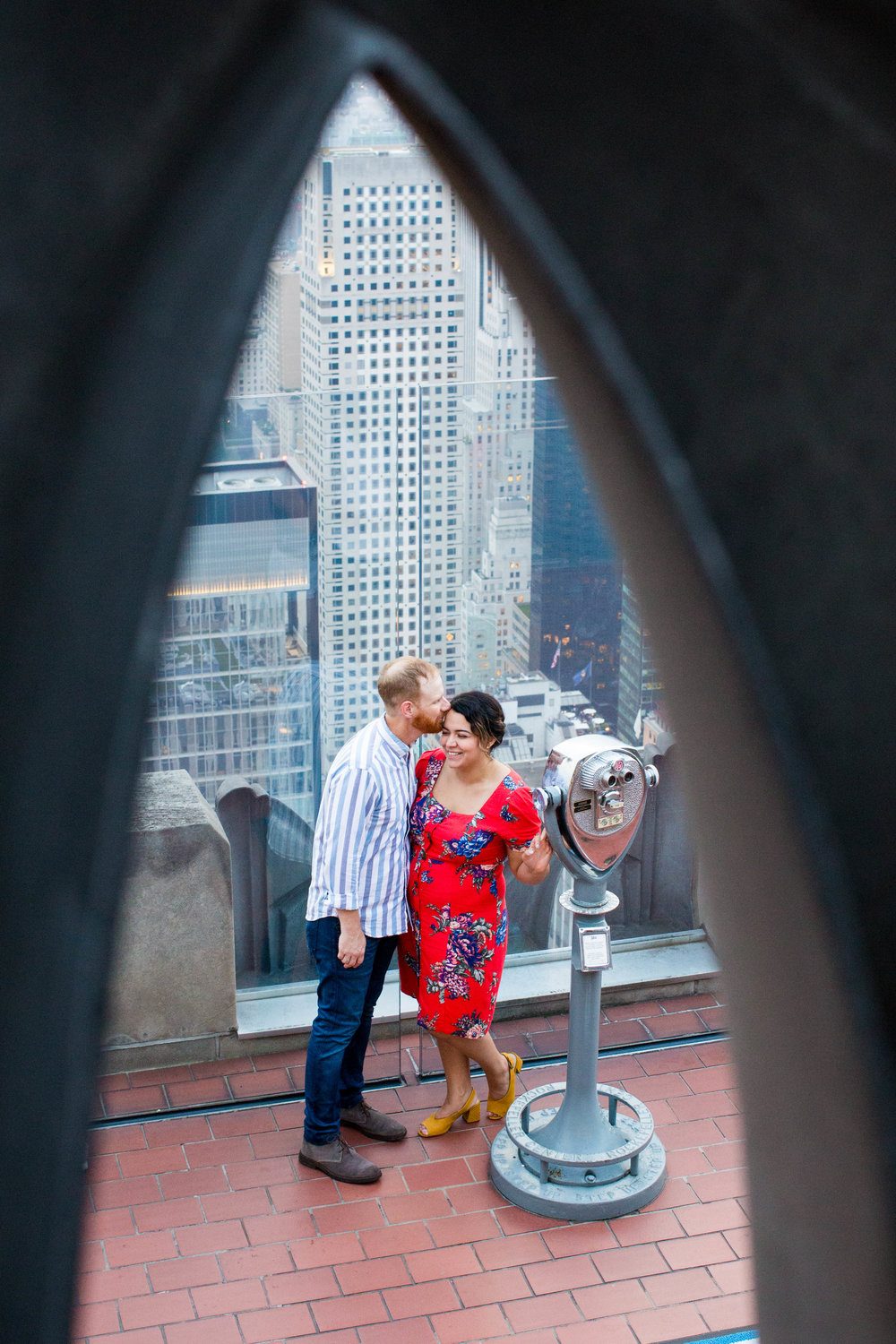 Aleshia & Gene Engagement Shoot: Top of the Rock & Times Square -
