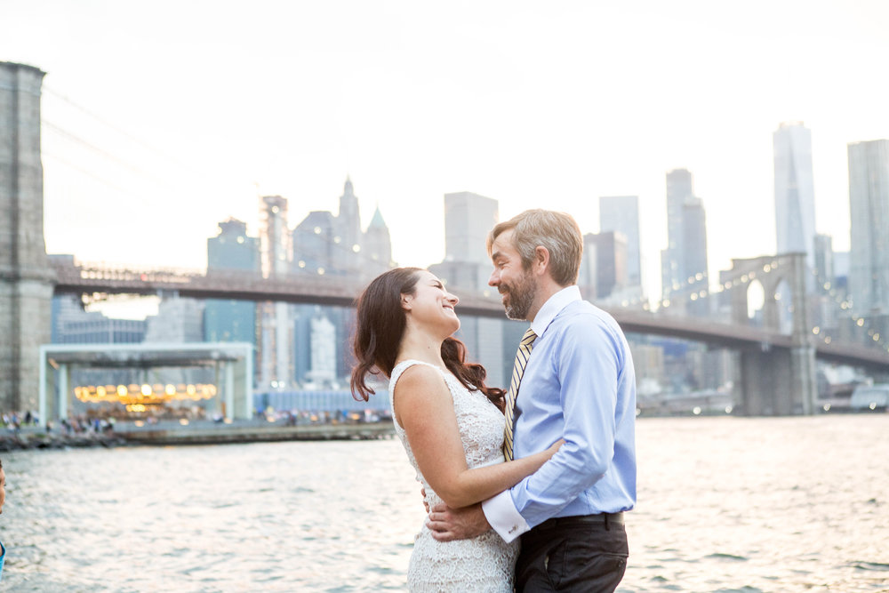 April & Andy: DUMBO Engagement Shoot -