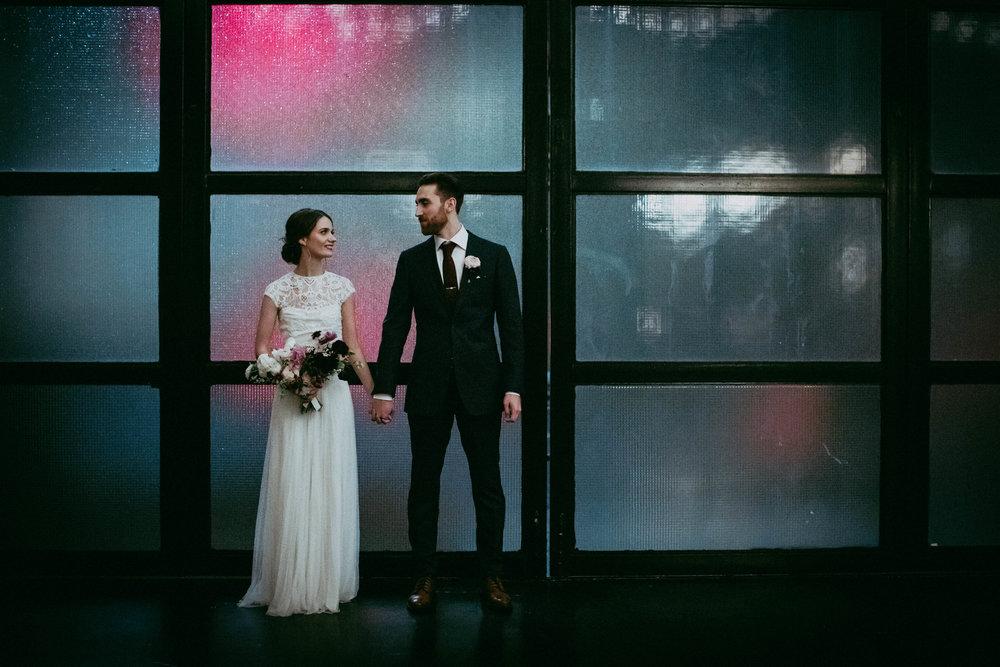 Stephanie & Mike's Brooklyn Winter Wedding at 501 Union -