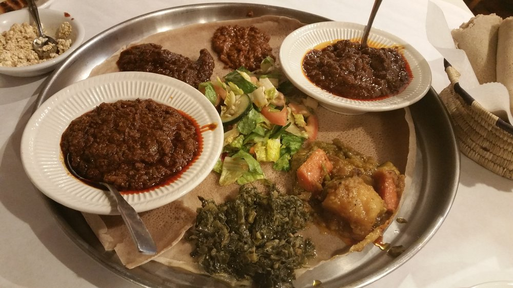 Demera - $$,Uptown,Ethiopian,Vegetarian,Vegan,Gluten-free,Sidewalk Seating,Dog friendly