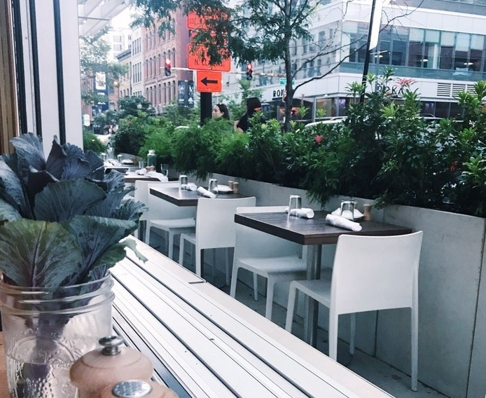 Ēma - $$, River North, Mediterranean, Vegetarian, Gluten-free, Sidewalk Seating