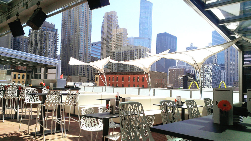 I/O Godfrey - $$, River North, Bar Food, Rooftop