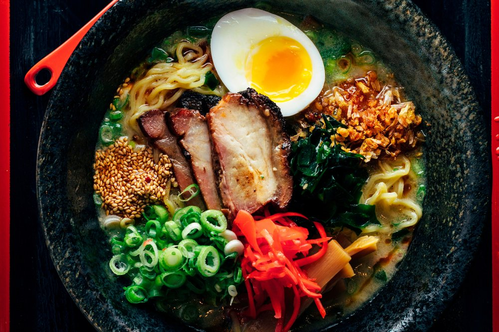 Ramen-san - $$, River North, Fulton Market, Ramen, Vegetarian, Sidewalk Seating, Patio Doors