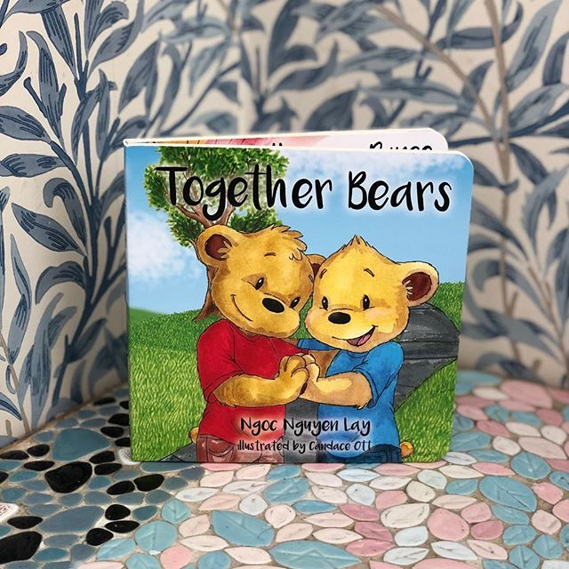 Our book hanging out at @aufudge's tree house! #togetherbearsbook