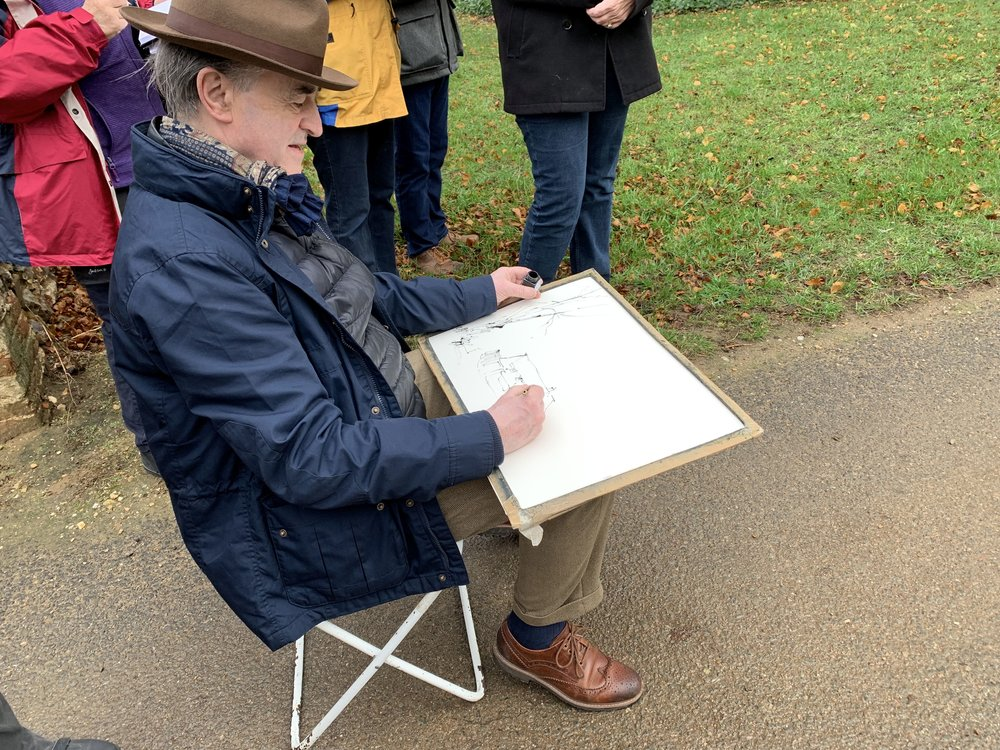 John Hoar en plein air in November