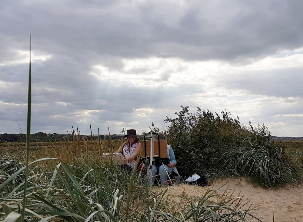 Jem's pupils in the dunes - it was very windy! -