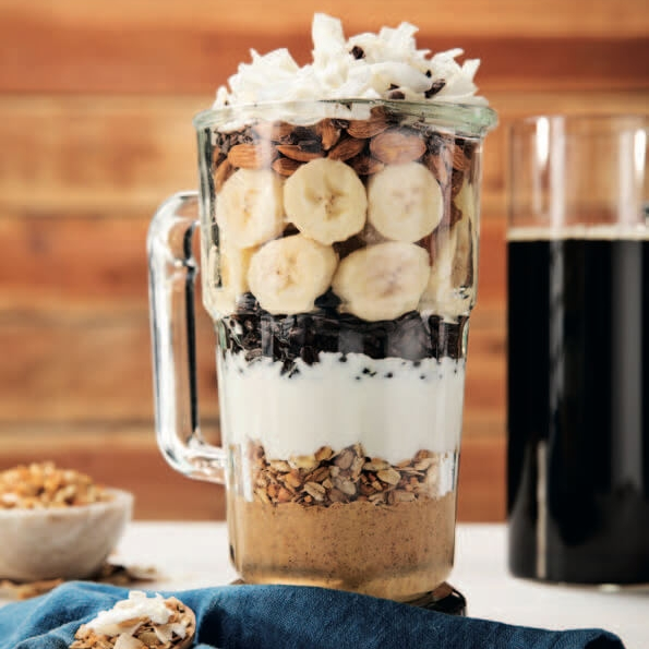 Cold Brew Banana Oat Smoothie