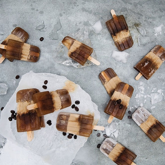Caramel Coffee Popsicles