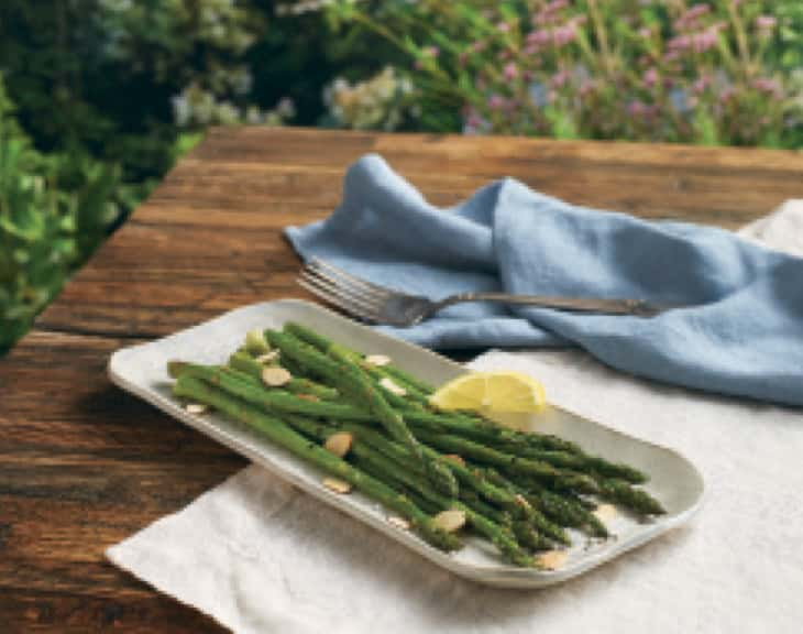 Image of roasted asparagus with almonds
