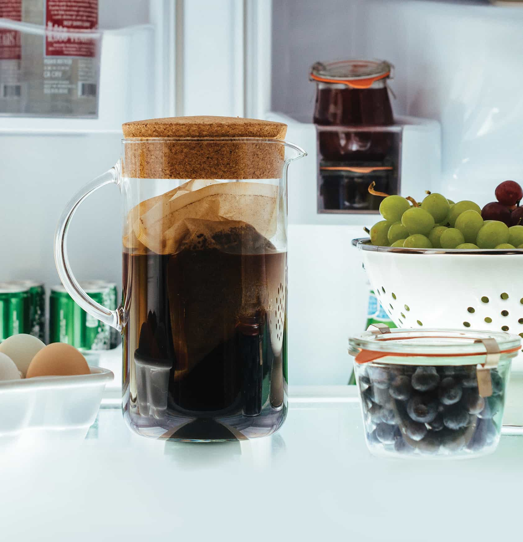 Image of coffee pitcher containing cold brew coffee