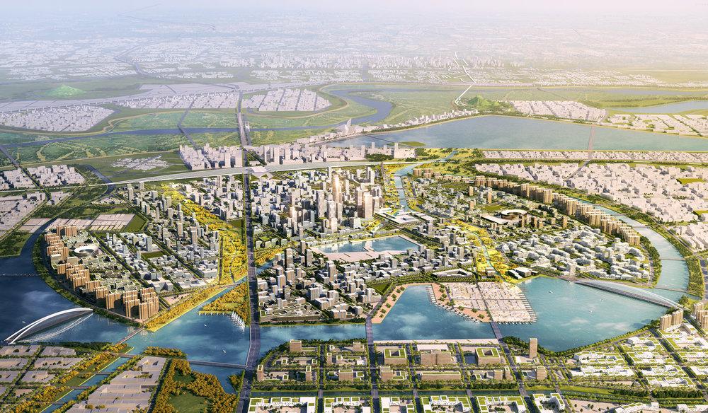 ....   JI'NAN RIVER NORTH MASTERPLAN  ..    济南携河发展空间规划与城市设计  ....