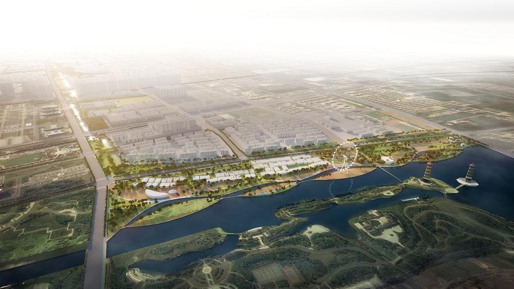 江苏宿迁为民河城市森林公园概念设计