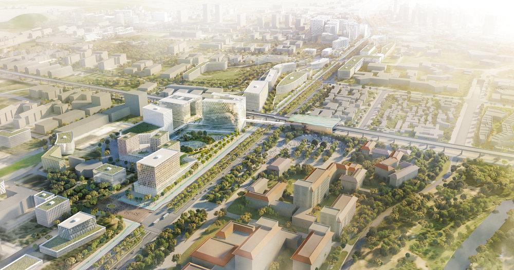 ....CHANGQING UNIVERSITY CITY MASTERPLAN..    长清大学城总体规划及城市设计....