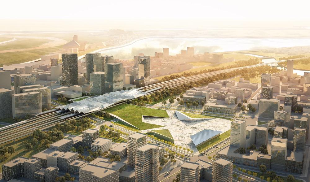 DF_Jinan River North Development_High Speed Station.jpg.jpg